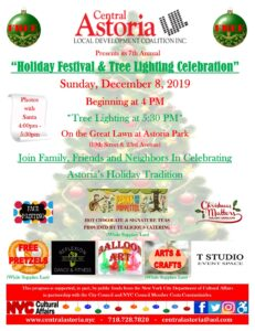 "7th Annual ""Holiday Festival & Tree Lighting Celebration"" @ Astoria Park Great Lawn 