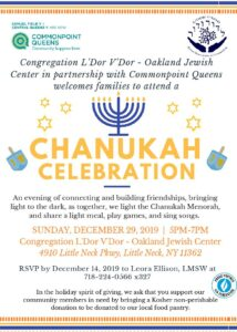 Chanukah Celebration with Commonpoint Queens & Congregation L'Dor V'Dor @ Congregation L'Dor V'Dor | New York | United States