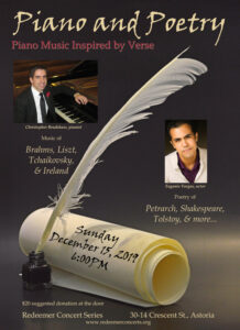 Piano and Poetry @ Church of the Redeemer | New York | United States