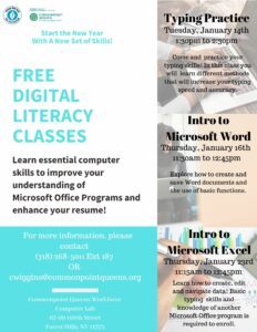 Free Digital Literacy Classes: Typing Practice @ Commonpoint Queens Central Queens | New York | United States