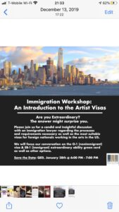 Immigration for Artists Workshop @ QED Astoria | New York | United States