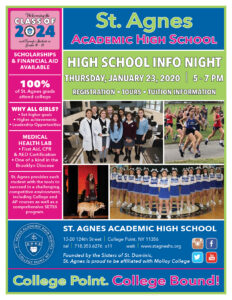 St. Agnes HS Information Night @ St. Agnes Academic High School | New York | United States