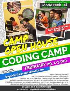 The Coder School Bayside Classes/Camps Open House @ The Coder School Bayside | New York | United States