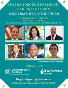 Queens Borough Presidential Candidate Forum @ Commonpoint Queens Sam Field Center | New York | United States