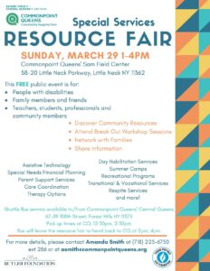 Resource Fair for Individuals with Developmental Disabilities @ Commonpoint Queens Sam Field Center | New York | United States
