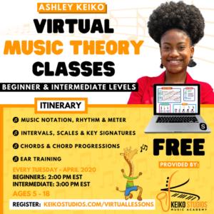 FREE Virtual Music Theory Lessons @ Keiko Studios | New York | United States