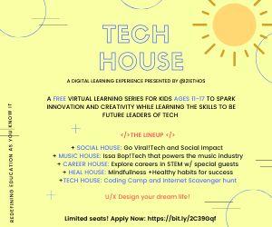 Tech House Virtual Kids Summer Program @ Virtual   New York   New York   United States