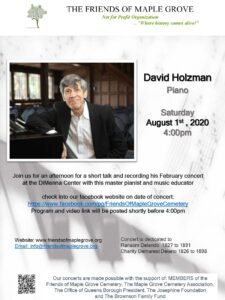 Friends of Maple Grove presents David Holzman in Concert @ Friends of Maple Grove | New York | United States