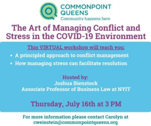 The Art of Managing Conflict and Stress in the COVID-19 Environment @ Virtual