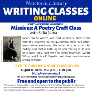 Missives: A Poetry Craft Class @ Online