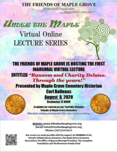 Historical Lecture by Historian Carl Ballenas @ Friends of Maple Grove - Online Presentation | New York | United States