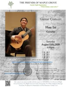Friends of Maple Grove Virtual Concert with Guitarist Hau Le @ Friends of Maple Grove - Online Presentation | New York | United States
