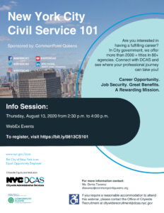 New York City Civil Service 101 @ virtual