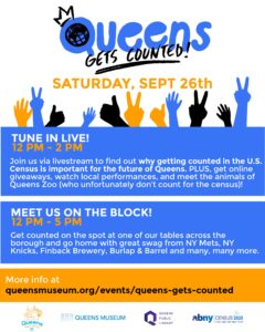 Queens Gets Counted! - A Census 2020 Program Presented by Queens Night Market, Queens Museum, Queens Public Library & Association for a Better New York @ Online & Onsite | New York | United States