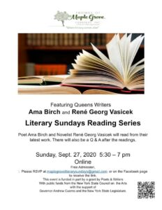 Literary Sundays Reading Series @ Friends of Maple Grove - Online Event | New York | United States