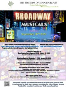Friends of Maple Grove - Broadway Musicals Virtual Concert @ Friends of Maple Grove - Online Presentation | New York | United States