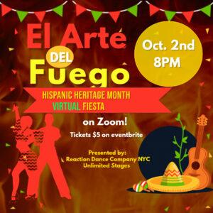 El Arte Del Fuego: A Virtual Hispanic Heritage Month Fiesta! @ Online