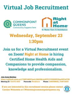 Virtual Job Recruitment Session with Right at Home