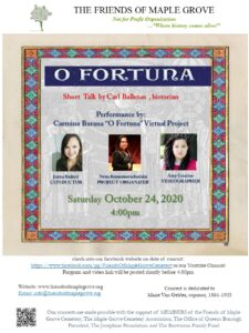 O fortuna from Carmina Burana by Friends of Maple Grove @ Friends of Maple Grove - Online Presentation | New York | United States