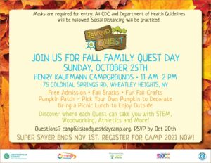 Fall Family Quest Day at HKC @ Henry Kaufmann Campground | Wheatley Heights | New York | United States
