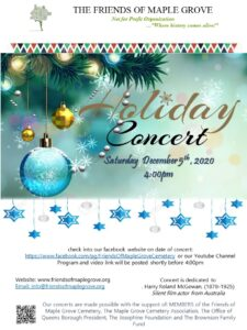 Friends of Maple Grove  - Annual Holiday Concert (online) @ Friends of Maple Grove | New York | United States