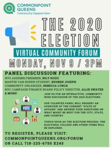 2020 Election Virtual Community Forum @ virtual