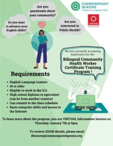 Bilingual Community Health Worker Program Information Session @ virtual