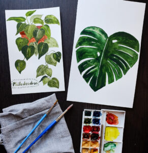Virtual Watercolor House Plants - ON LINE @ Alley Pond Environmental Center | New York | United States