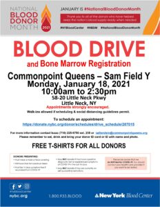MLK Blood Drive and Bone Marrow Registration @ Commonpoint Queens Sam Field Center | New York | United States