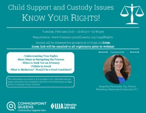 Know Your Rights: Child Support and Custody Issues @ virtual
