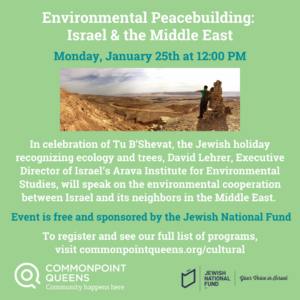 Environmental Peacebuilding: Israel & the Middle East @ virtual