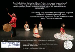 FREE TAINO CALLING SONG EVENT VIA ZOOM @ ZOOM
