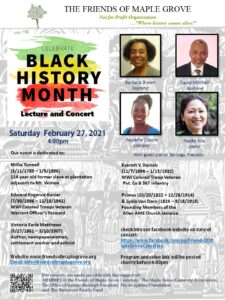 Black History Month Concert from Friends of Maple Grove @ Friends of Maple Grove Virtual Event | New York | United States