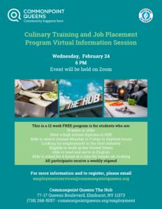 Culinary Training Virtual Information Session @ virtual