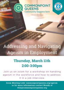 Addressing and Navigating Ageism in Employment Workshop @ virtual