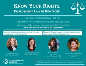 Know Your Rights: Understanding Your Rights in the Workplace While Pregnant and Parenting @ virtual