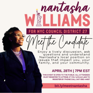 Meet the Candidate: Nantasha Williams @ Online
