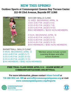 Bay Terrace Youth Sports Free Trial Week @ Commonpoint Queens Bay Terrace Center | New York | United States
