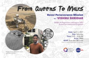 From Queens To Mars: Q&A Session with NASA Engineer Vishnu Sridhar @ online | New York | United States