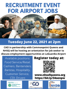 Recruitment Event for Airport Jobs @ virtual