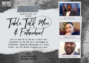 Table Talk : Men and Fatherhood @ Via Zoom