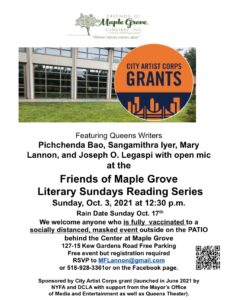 Literary Sunday at Maple Grove @ Friends of Maple Grove | New York | United States