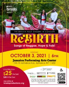Braata Folk Singers in Concert: Rebirth @ Jamaica Performing Arts Center | New York | United States