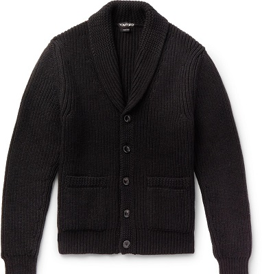 Quantum of Solace Black Shawl Collar Cardigan