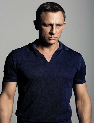 Daniel Craig James Bond Tom Ford Banded Hem Johnny Collar Polo SPECTRE
