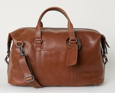 James Bond style leather bag