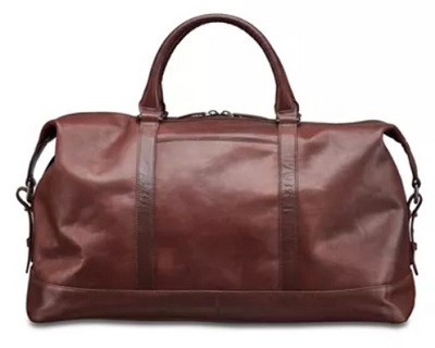 budget James Bond leather duffle bag