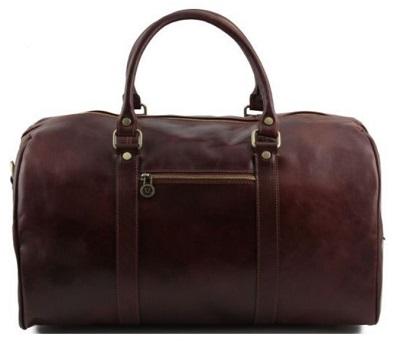 leather travel bag Bond style