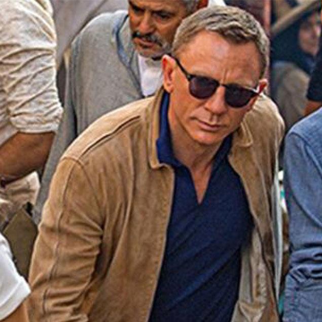 Daniel Craig James Bond SPECTRE Suede Jacket Polo