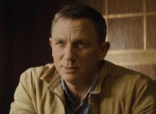 Daniel Craig James Bond SPECTRE Orlebar Brown Blue Linen Shirt